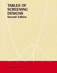 Tables of Screening Designs